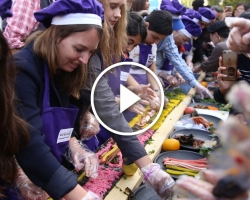 락쉐프와 함께 파리에서 15m김밥 만들기